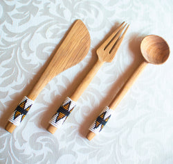 Olive Wood Cutlery Set