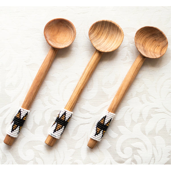 Olive Wood Scoop Spoon Set