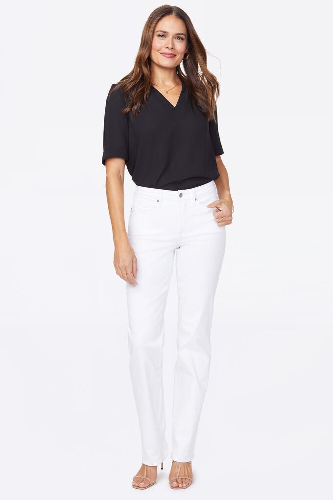 Relaxed Straight Jean Optic White