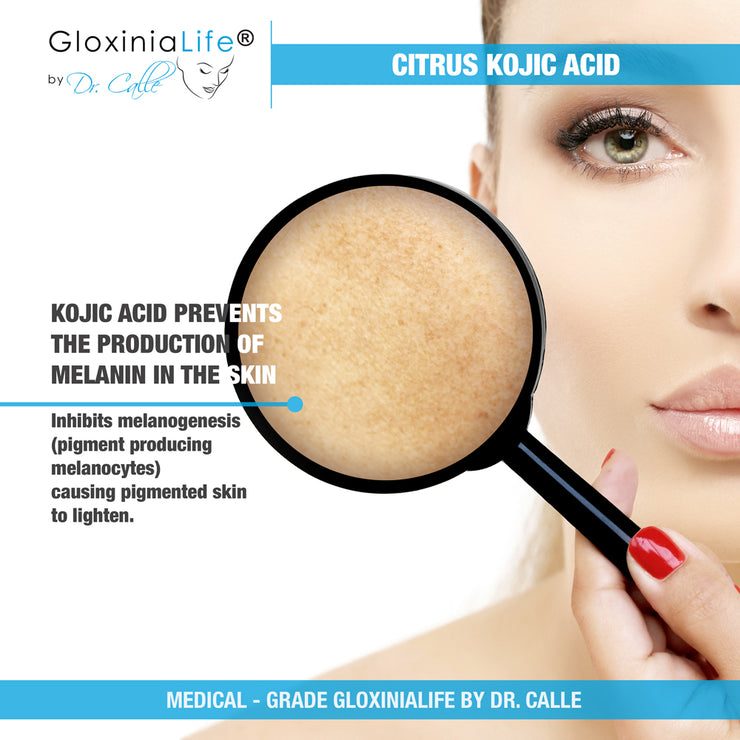 Gloxinialife by Dr. Calle Citrus Kojic Acid - Skin Lightening For Dark Spots & Melasma-Skin Lightener-Gloxinialife