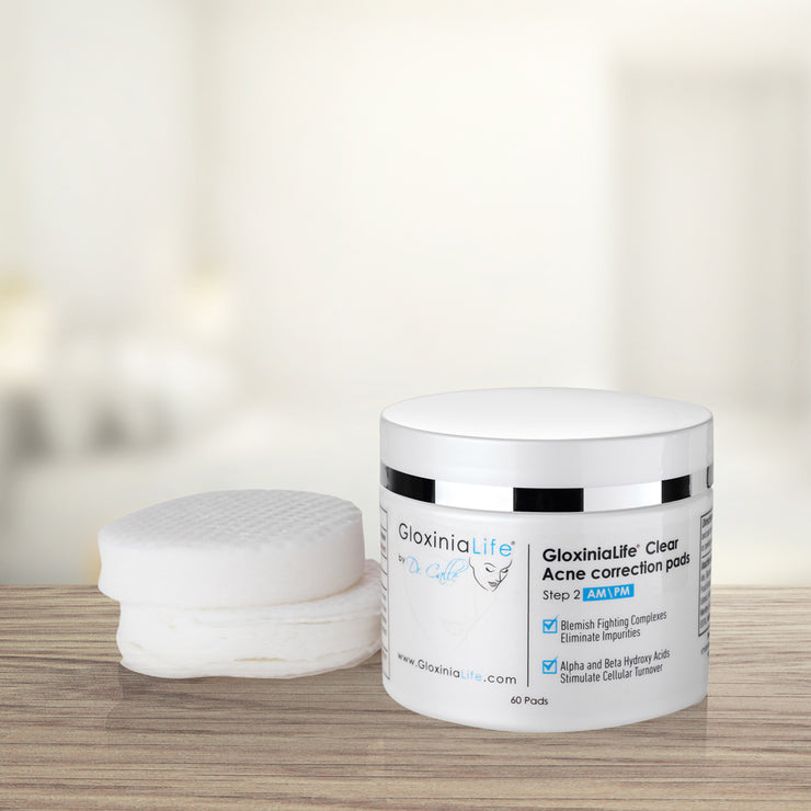 GloxiniaLife by Dr. Calle Clear Acne Correction Pads- Acne Treatment for Facial Oily Skin-Acne Solutions-Gloxinialife