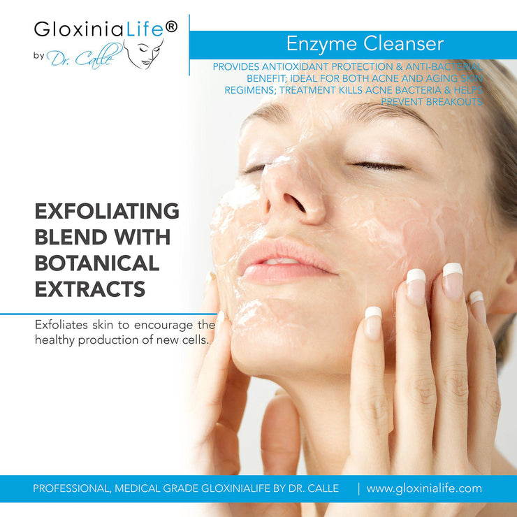 GloxiniaLife by Dr. Calle Enzyme Cleanser- Face Cleanser for Acne, Oily, and Dry Skin-Cleansers & Toners-Gloxinialife