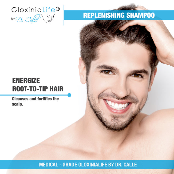 GloxiniaLife by Dr. Calle Replenishing Shampoo- Hair Loss Restoration- Men and Women Natural Shampoo-Hair Loss-Gloxinialife