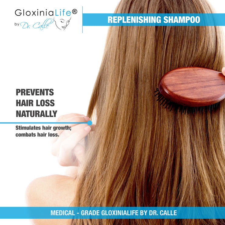 GloxiniaLife by Dr. Calle Replenishing Shampoo- Hair Loss Treatment- Men and Women Natural Shampoo-Hair Loss-Gloxinialife