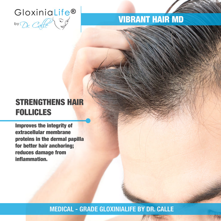 GloxiniaLife by Dr. Calle Vibrant Hair MD- Natural Hair Loss Restoration- For Healthier Thicker Hair-Hair Loss-Gloxinialife
