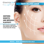 GloxiniaLife by Dr. Calle Youth Collagen Serum - 100% Pure Hyaluronic Acid & Collagen Boost for Face-Collagen Stimulator-Gloxinialife