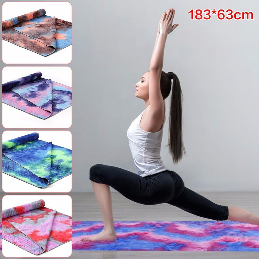 183x63cm Non Slip Yoga Towel - Don't Sit Stay Fit