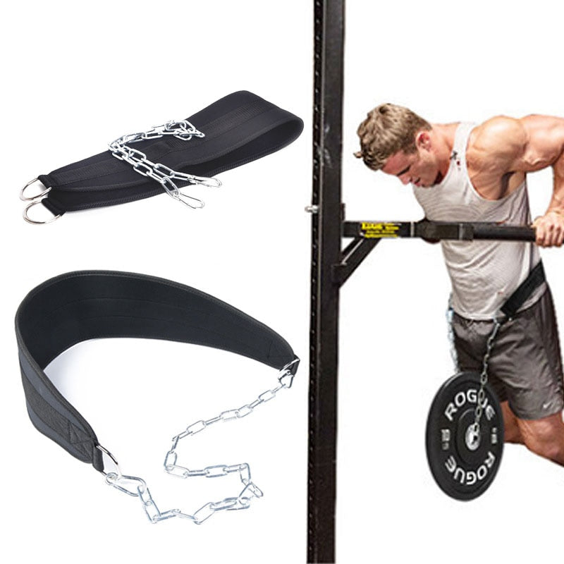 Weight Lifting Belt With Chain - Don't Sit Stay Fit