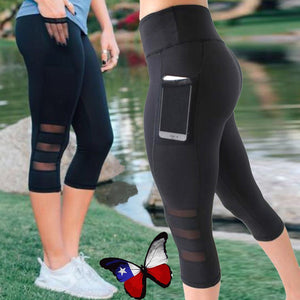 Sport Leggings With Pockets - Don't Sit Stay Fit