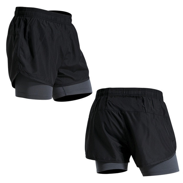 Fake Two Running Shorts - Don't Sit Stay Fit
