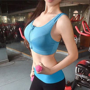 Zipper Push Up Sports Bra - Don't Sit Stay Fit