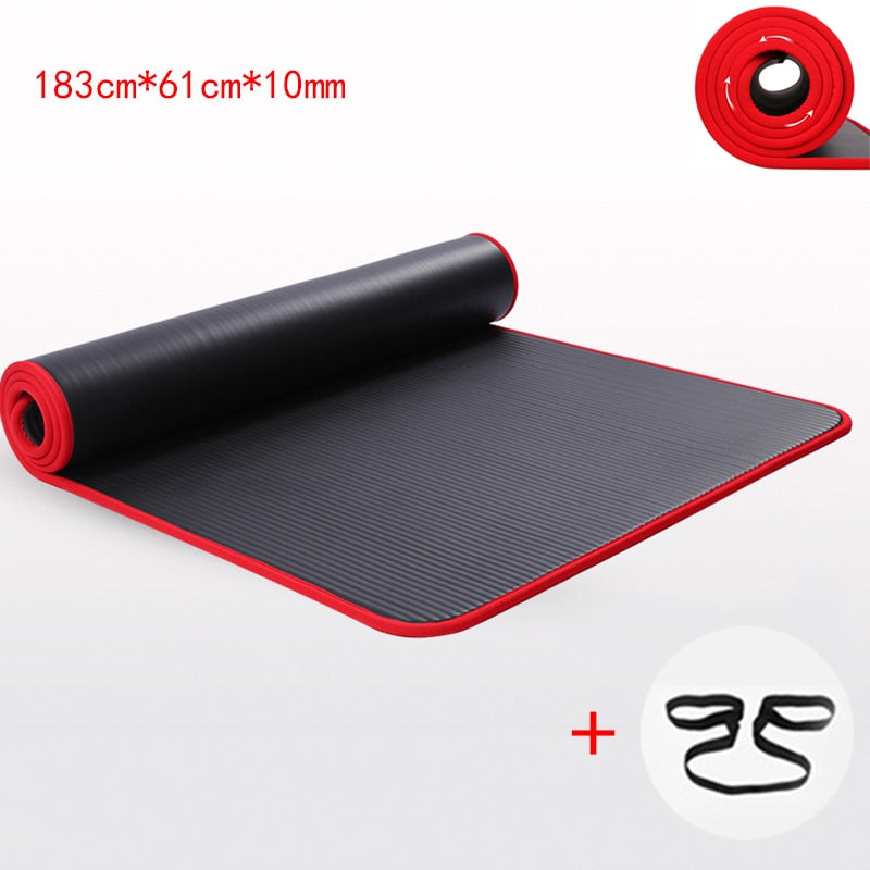10MM Extra Thick High Quality  Non-slip Yoga Mats - Don't Sit Stay Fit