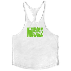 Muscleguys Cotton Gyms Tank Tops - Don't Sit Stay Fit