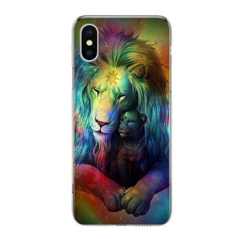 Coque Iphone Lion Couleurs Astrales