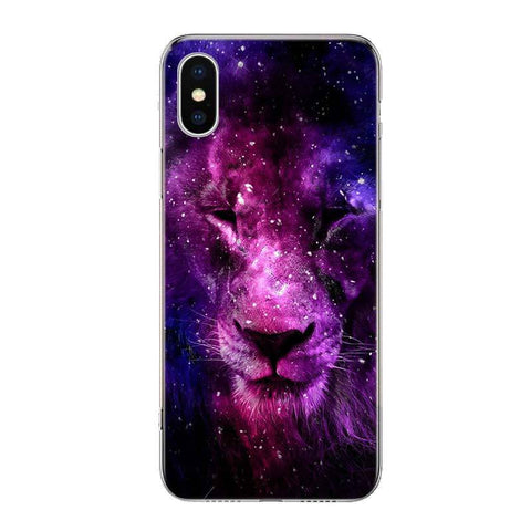 Coque Iphone Lion Felin Astral