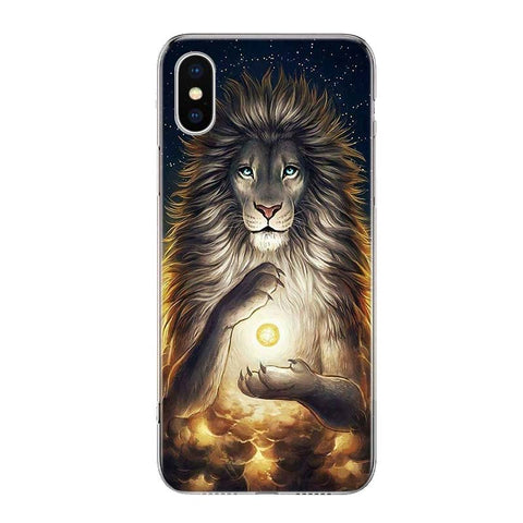 Coque Iphone Lion Dieu Felin
