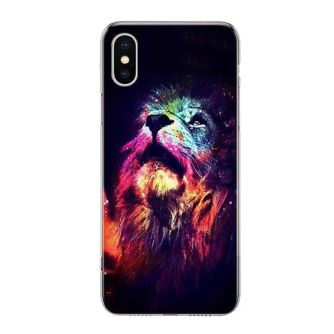 Coque Iphone Lion Couleurs Spectrales