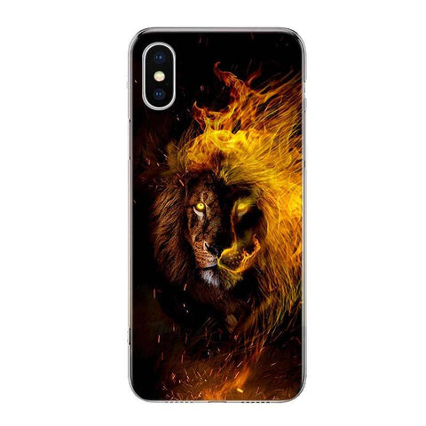 Coque Iphone Lion Embrasement