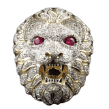 chevaliere lion rubis