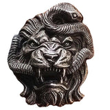 Bague Tete de Lion Serpent