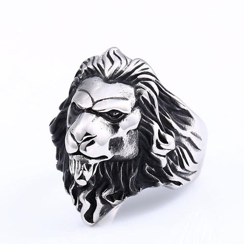 Bague Tete de Lion Charismatique
