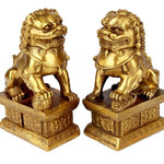 Statues Lions Gardiens Chinois