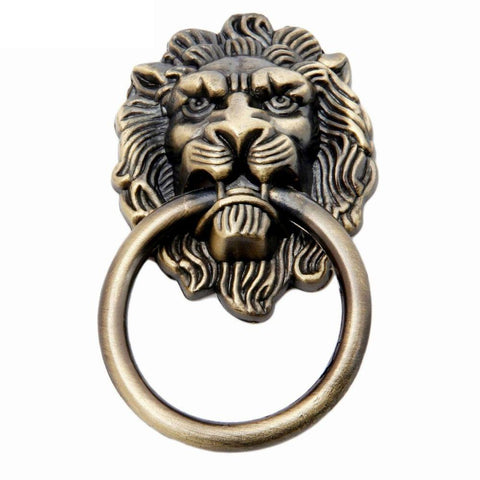 Heurtoir Lion Bronze Ancien