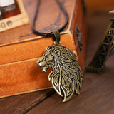 collier lion tribal or