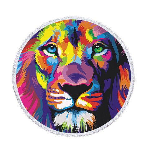Serviette de Plage Lion Multicolore