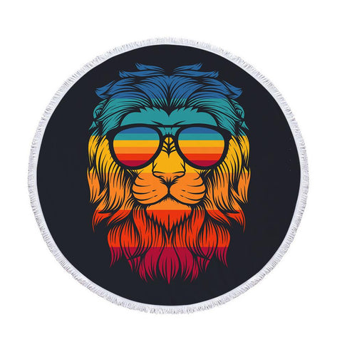 Serviette de Plage Lion Retro