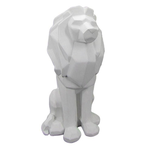 Statue Lion Blanc<br> Origami