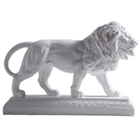 Statue Lion Africain Blanc