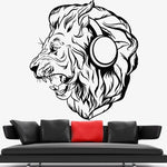 Stickers Lion Casque Audio