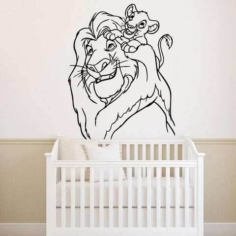 stickers muraux roi lion