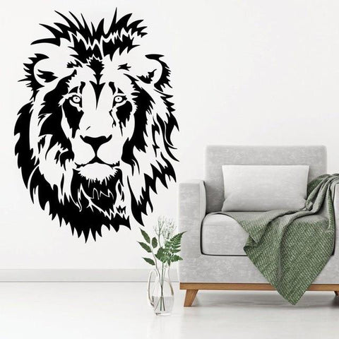 stickers lion savane