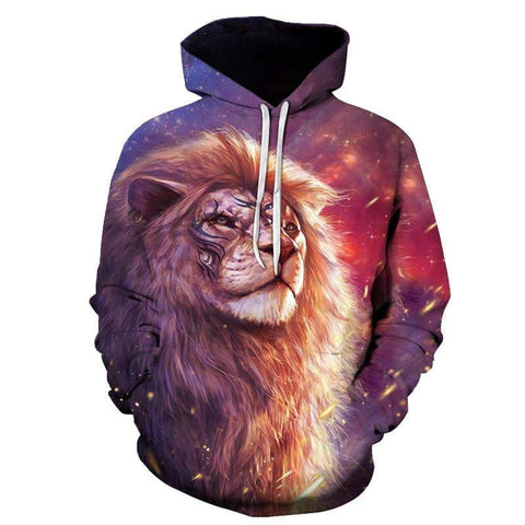 sweat capuche lion