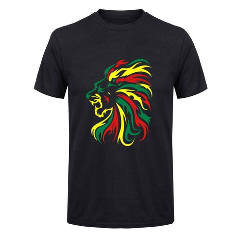 t-shirt lion couleurs africaines