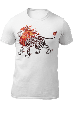 T-Shirt Lion Flamme
