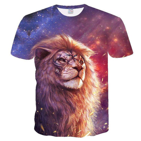 T-Shirt Lion Galaxie