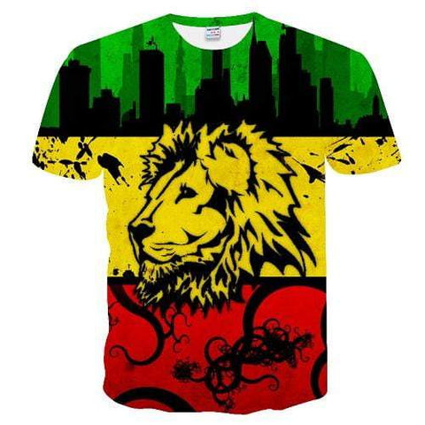 T-Shirt Lion couleurs panafricaines