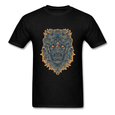 T-shirt lion zodiaque