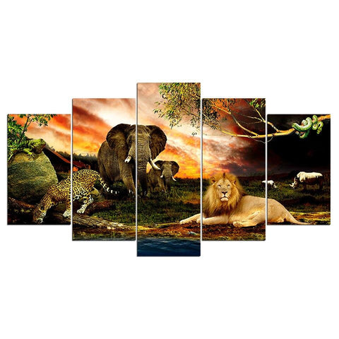 tableau animaux jungle