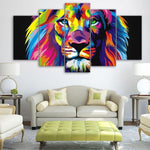 Tableau Lion<br> Multicolore