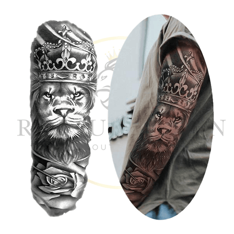 Tatouage Temporaire Lion Royal