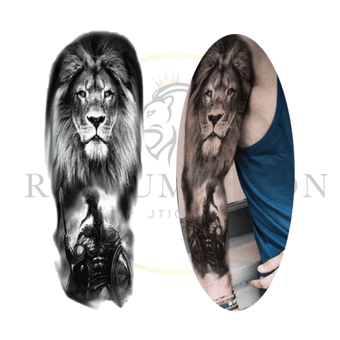 Tatouage Temporaire Lion Spartiate