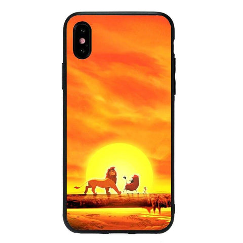 Coque iPhone Roi Lion Soleil Couchant