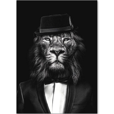 Toile Lion Gentleman