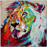 Toile Lion Pop Art