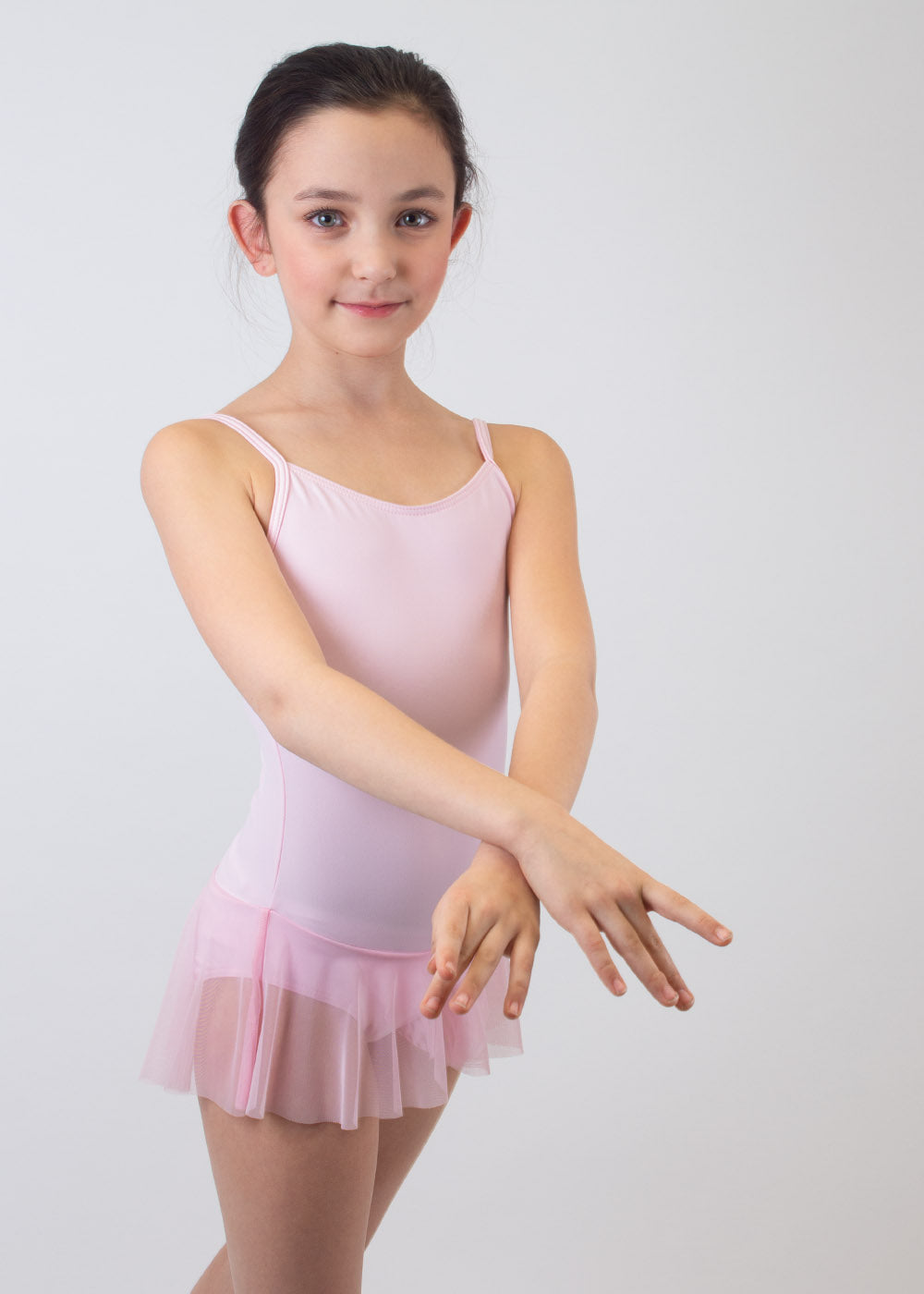 Ballet leotard with skirt Pink