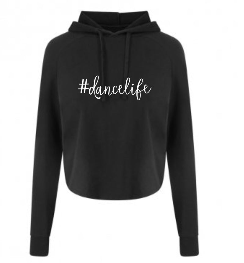 X Back Crop Hood DanceLife Black